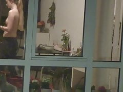 Window Voyeur: Nubile Neighbour Displaying Her Smallish Tits