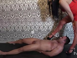 Bdsm Femdom Pornstar video: Human Trampling Plank - Merciless Sharp High Heels