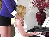 Gorgeous ts piano teacher Jessica Fox pounding tight pussy