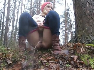 Hairy Pov Teen video: Hairy Pussy Pissing In Forrest Again