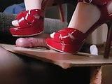 Red heels shoejob by krisi