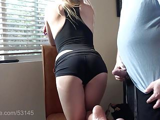 Blondes Babes Sexy video: Sexy Smoking Blonde wants cum on her ass