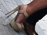 Candid amazing high heels