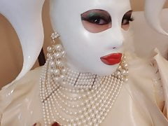 Latex Transdoll In White