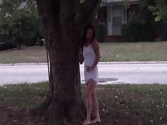 Tonya, in the front yard