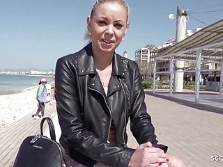 GERMAN SCOUT Tourist Teen Julia Public Agent Fuck on Malle