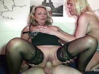 Big Tits Threesome Milf video: German Mature Bi Jenny caught Sister Fuck and Join in 3some
