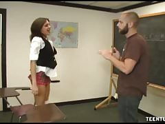 POV Cornea E Bella Teen Corners Her Teacher