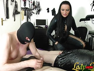 Amateur Bdsm Femdom video: German slave must learn blowjob for femdom Domiina bdsm
