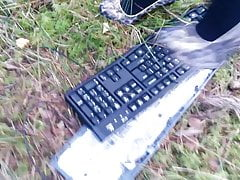 Lady L Crush Keyboard mit Leopard High Heels