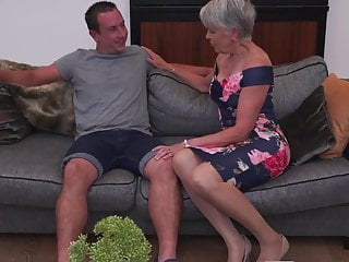 Blowjob Big Tits Milf video: Sexy granny gets taboo sex from boy