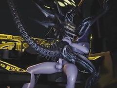 Tali gets an alien ride (SFM-001)