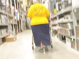 Huge granny hips
