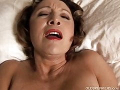 Sexy cougar has kinky piercings and a fat juicy pussy