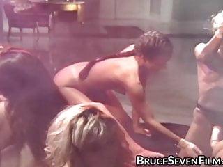 Vintage Fingering Blonde video: Lustful babes going wild during huge lesbian orgy