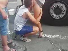 Drehte seine heiße Frau am truckstop