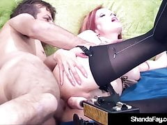 Cougar Shanda Fay Dostaje DP Machine W Cunt & Real Cock In Ass