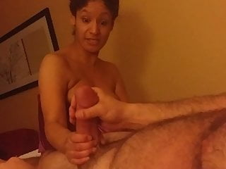 Blowjob Big Cock Threesome video: Mia tries to swallow my huge girthy 10 inch