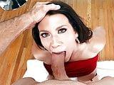 Cougar Leena Sky deepthroats a big cock