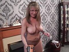 Full Back Knicker's  Naked Hoovering