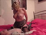 British Blonde Sucks and Fucks A young Cock