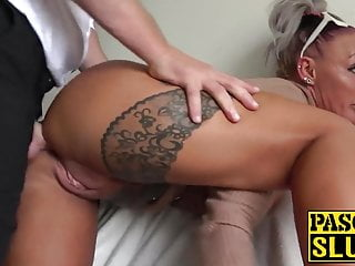 Bdsm Blowjob Big Cock video: Hot tattooed subslut destroyed by maledom Pascal