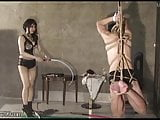 Japanese Femdom Suspended and Whipped