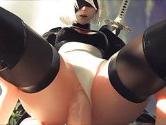 NieR Automata 2B - Vaginal Sex z dźwiękiem - Hentai