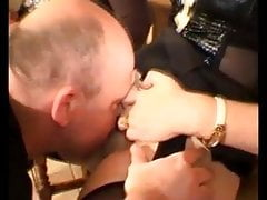 Hairy, wet, pussy licking extreme femdom