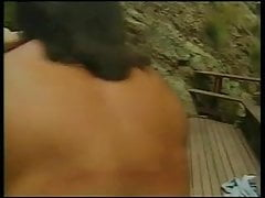 Brunette babe with tiny tits gets her pussy licked and fucked
