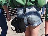 Candid Tight Teen Shorts