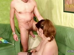 Young German Men Seduce Stranger MILF to Fuck