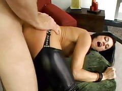 Perfect raven haired MILF fucks hard