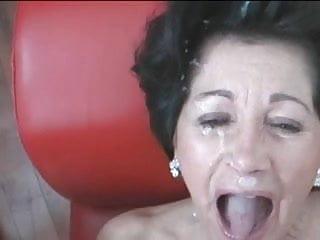 Blowjob Brunette video: granny never too old