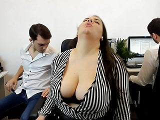 Bbw Spanking Big Tits video: Fun and oddly quite sexy roleplay cam show.  Big busty bbw