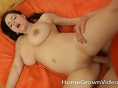 Big Tit Amateur Babe Takes On A Long Hard Cock
