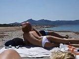 Chupandosela en la playa