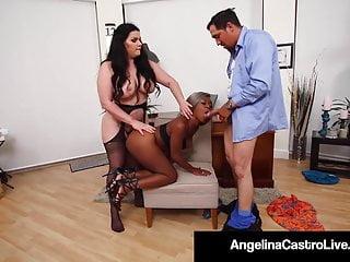 Hardcore Bbw Blowjob video: BBW Angelina Castro & Phat Harmonie Marquis Blow & Bang Cock
