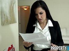PropertySex - Bezwzględny agent nieruchomości pieprzy wielkiego kutasa