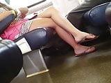 Sexy Legs & Feet in Train