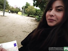 Teen Anya Krey ass fucked and fed with spunk in public park