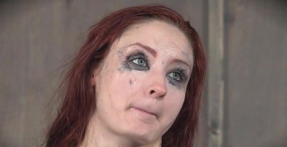 Redhead BDSM gangbang