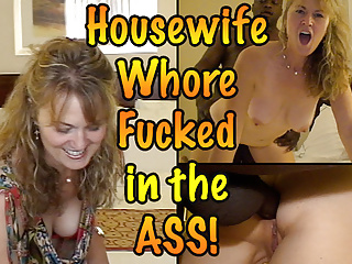Cuckold Blowjob Kissing video: Housewife Whore Fucked in the ass