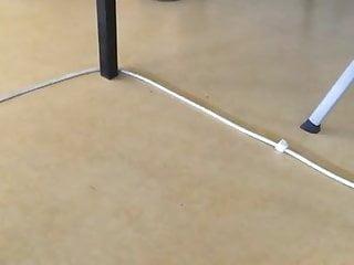 Feet dangling in class
