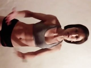 Brunette Mature Wife video: Russian mature showing some muscles