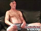 Mature stud with sexy mustache masturbating until he cums