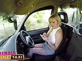 Female Fake Taxi First taxi creampie for busty blonde MILF
