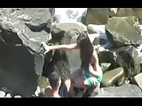 Secretly Fuck on Rocky Beach