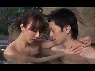 Milfs Asian Japanese video: Spa with mom COT