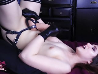 Femdom Latex Small Tits video: Self-Facial CEI Jerk Off Instructions With Brookelynne Briar